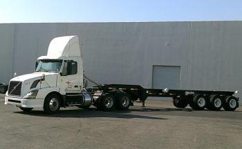 Truck heading to Port of Oakland with Triaxle